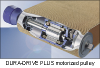Sparks motorized pulleys dura drive plus product overview for Dura drive drum motor